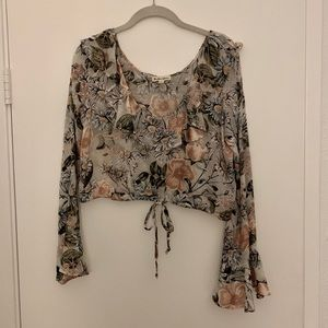 For Love and Lemons Luciana Crop Blouse Floral S